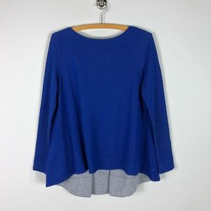 COS Long Sleeve Swing Top Royal Blue *96
